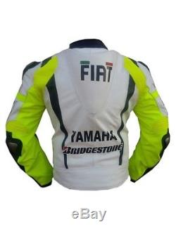 Yamaha Fiat VR46 Motorcycle Motogp Motorbike Racing Leather Jacket