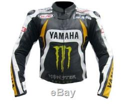 Yamaha Monster Energy Racing Leather Jacket Motorcycle Leather Jacket