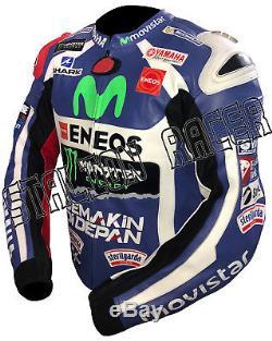Yamaha Motogp Motorbike / Motorcycle Racing Cowhide Leather Jacket