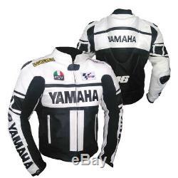 Yamaha Motorbike Leather Jacket Motogp Motorcycle Racing Jacket CE Approved