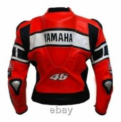 Yamaha Motorbike / Motorcycle Leather Jacket In Cowhide/5 Protection/ All Sizes