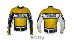 Yamaha Motorcycle Racing Motor Bike Leather Jacket. CE Approved Padding